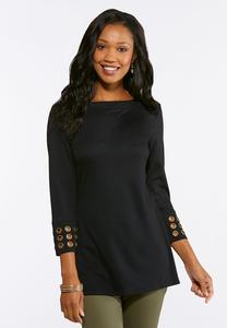 Ponte Grommet Tunic Top