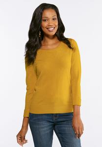 Pullover Cuffed Sleeve Sweater