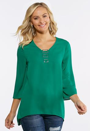 Embellished V- Neck Top
