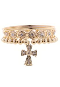 XL Assorted Band Cross Bracelet Set
