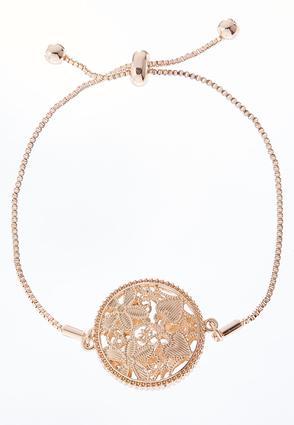 Caged Flower Pull String Bracelet | Tuggl