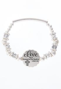 Love Disc Stretch Bracelet
