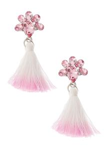Ombre Tasseled Stone Earrings