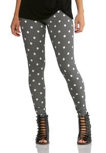 Dotted Plaid Leggings