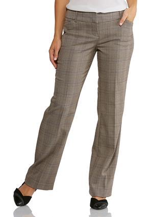 Shape Enhancing Plaid Pants | Tuggl