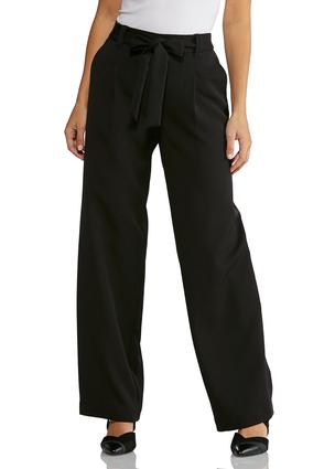Solid Tie Front Pants | Tuggl