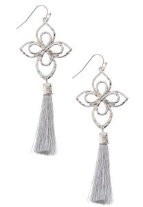 Clover Cutout Tassel Earrings