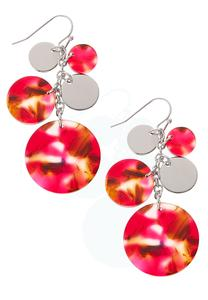 Marbled Disc Cluster Earrings