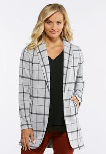 Windowpane Plaid Jacket