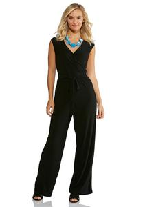 Plus Size Surplice Tie Waist Jumpsuit