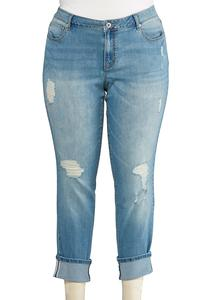 Plus Size Heavy Distressed Jeans