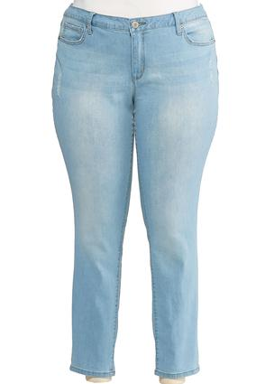 Plus Size Distressed Skinny Jeans | Tuggl