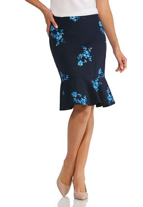 Embroidered Floral Pull- On Skirt