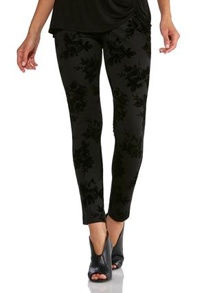 Flocked Ponte Leggings