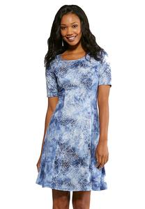 Sky Puff Leaf Dress