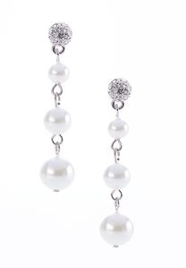 Linear Faux Pearl Earrings