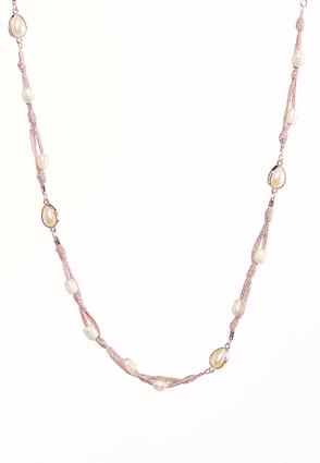 Pearl Metallic Thread Necklace | Tuggl