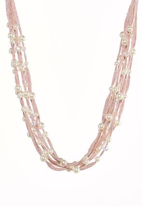 Multi Row Pearl Layered Necklace