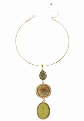 Tiered Pendant Wire Necklace | Tuggl