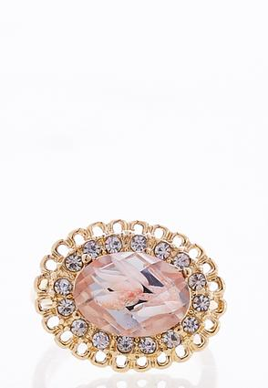 Floral Infused Halo Ring | Tuggl