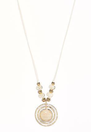 Iridescent Orbital Cord Necklace | Tuggl