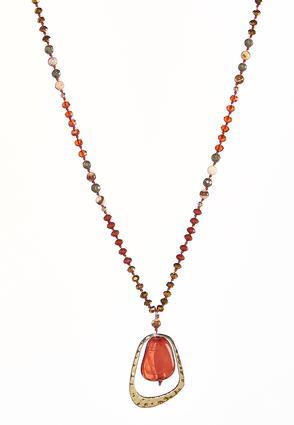 Hammered Metal Pendant Necklace | Tuggl