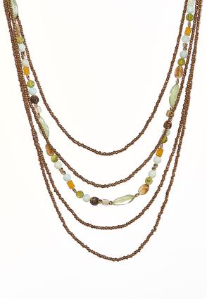 Earthy Layered Bead Necklace | Tuggl
