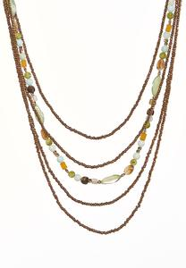 Earthy Layered Bead Necklace