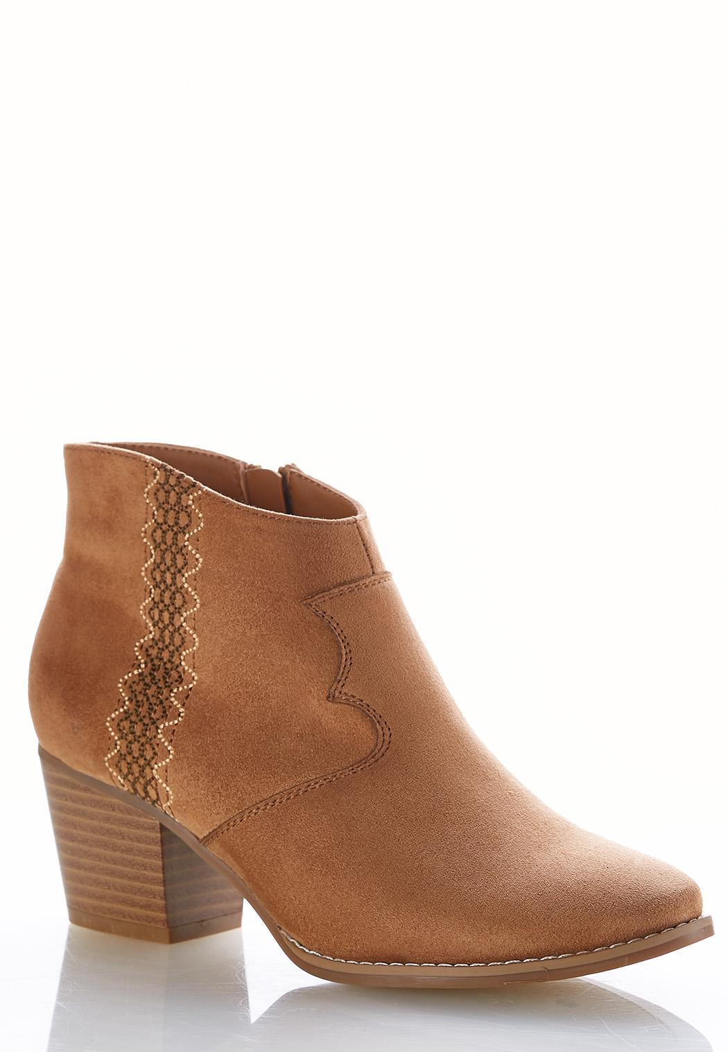 Embroidered Western Ankle Boots Shooties Cato Fashions Detail Alternate View