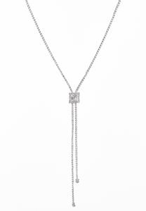 Rhinestone Lariat Cup Chain Necklace