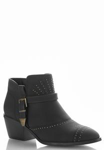 Wide Width Studded Ankle Boots