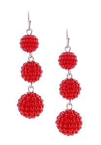 Cluster Bead Tiered Ball Earrings