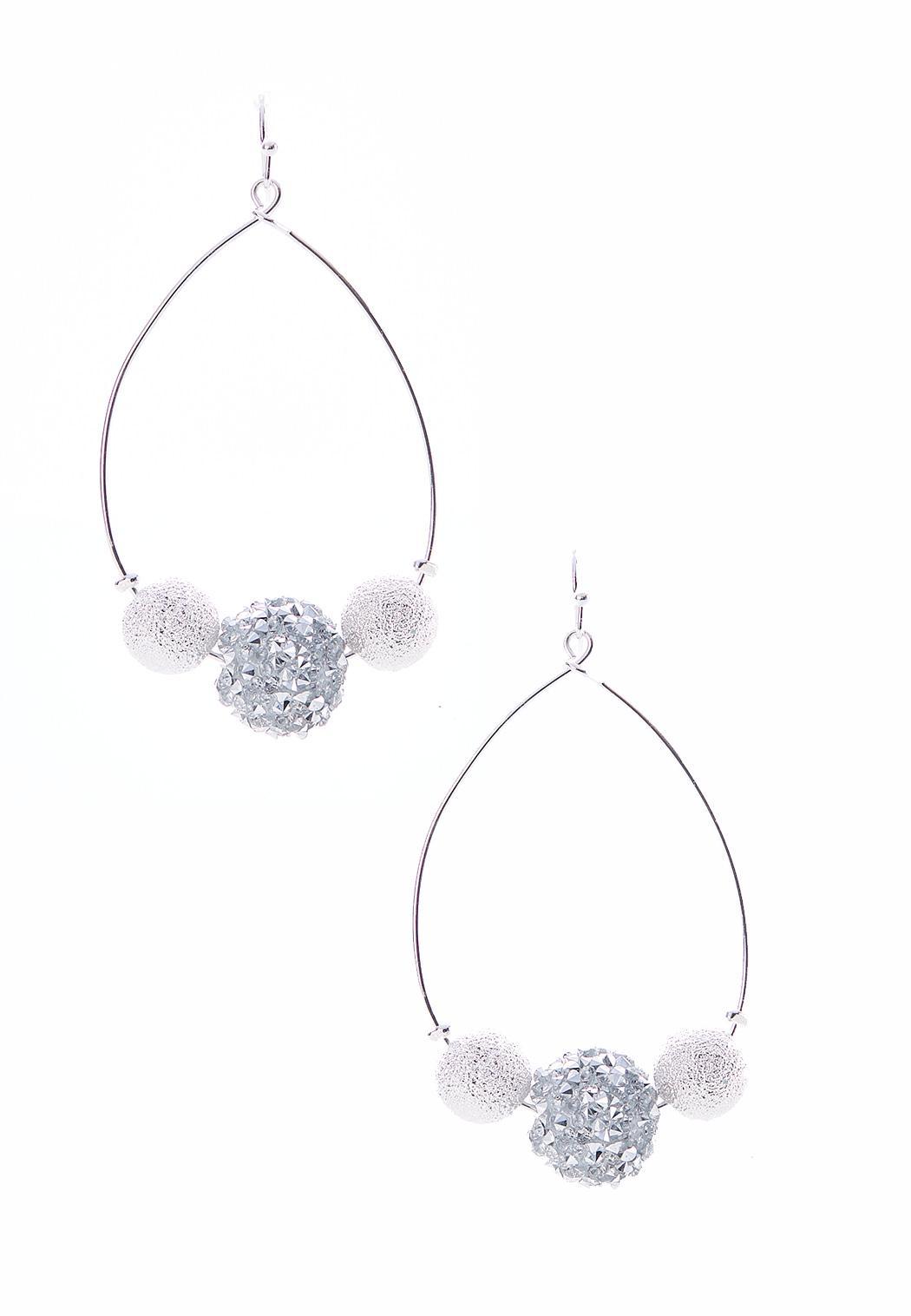 Rock Crystal Hoop Earrings