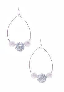 Rock Crystal Hoop Earrings