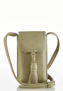 Faux Leather Cellphone Crossbody