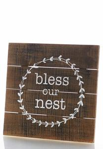 Bless Our Nest Decor Plaque
