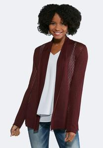 Mix Stitch Cardigan Sweater