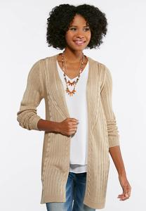 Natural Cardigan Sweater