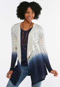 Plus Size Navy Ombre Cardigan Sweater
