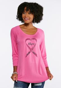 Plus Size Hope Ribbon Tee