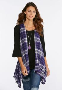 Purple Plaid Vest