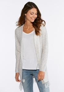 Plus Size Hooded Cardigan Sweater