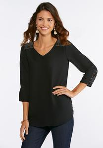 Stud Embellished Top