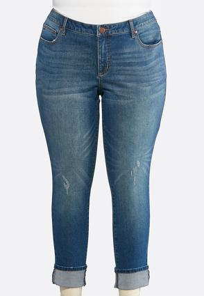 Plus Size Shape Enhancing Ankle Jeans | Tuggl