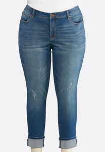 Plus Size Shape Enhancing Ankle Jeans