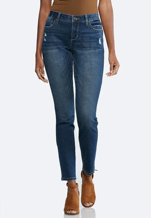 Petite Distressed Shape Enhancing Jeans