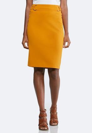 Golden Yellow Pull-On Skirt   Tuggl