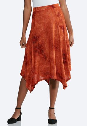 Embellished Hanky Hem Skirt   Tuggl