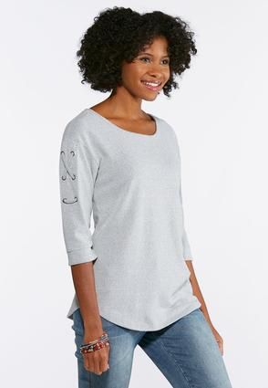 Lace Up Grommet Sleeve Top | Tuggl