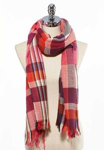 Chevron Plaid Oversized Scarf